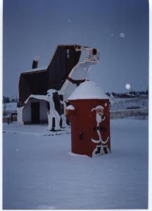 Santa waving from hydrant
