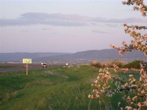 Sunset looking towards Grangeville, Idaho