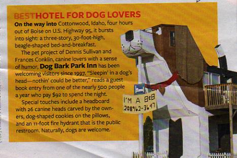 Dog Bark Park Inn Facts