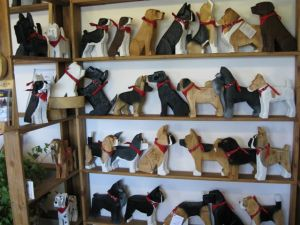 DogBarkPark studio carvings