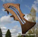 Fish Sculpture at Dog Bark Park