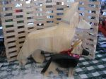 Dog art, German Shepherd Dogs, Chainsaw art, gifts for dog lovers
