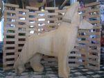 Dog Art, Chainsaw dog art, German Shepherd art